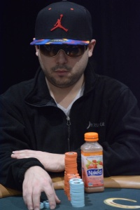 Shami Shurbaji doubled up five times as the short stack.